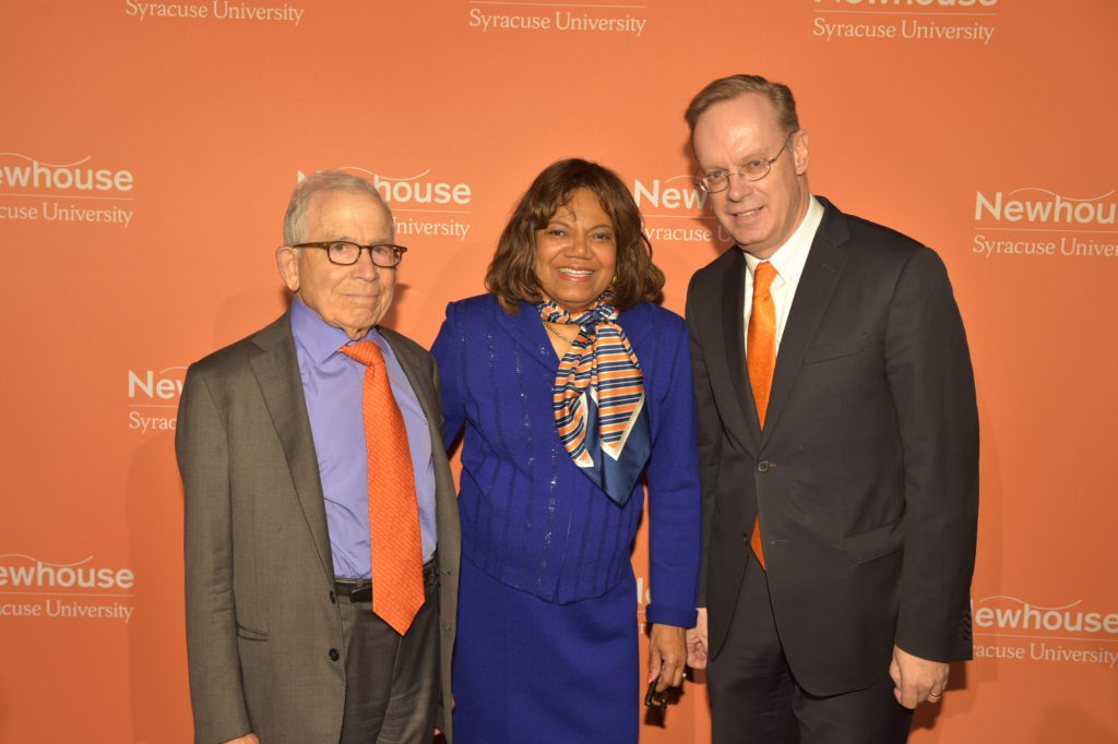 Donald Newhouse, Lorraine Branham and Kent Syverud