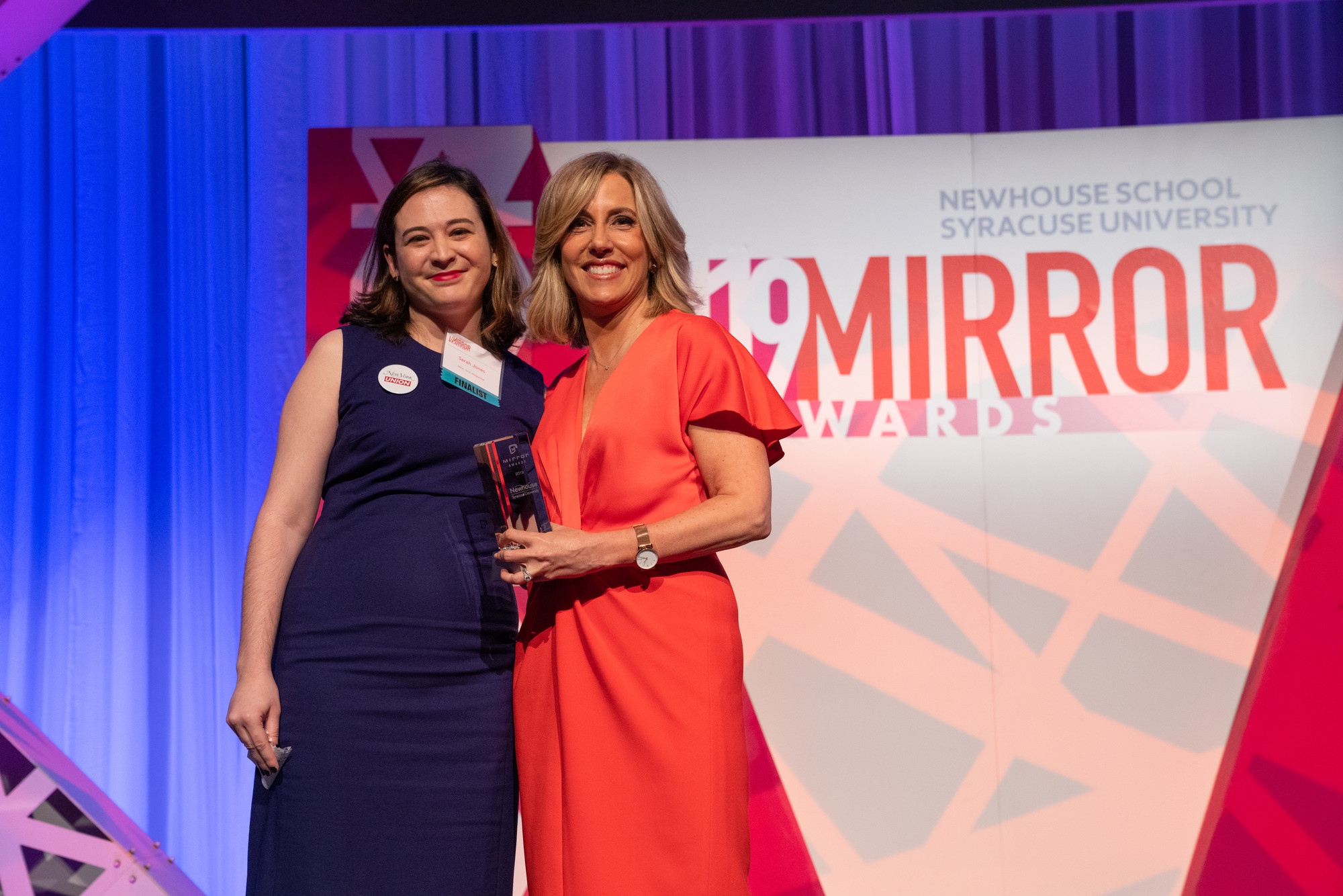 Best Commentary winner Sarah Jones with Alisyn Camerota